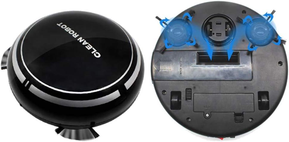 3.7 V Aspirapolvere Automatico della Macchina di Pulizia Automatica del Robot Che Carica USB Nero