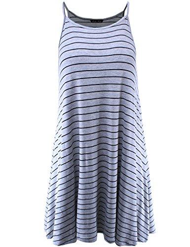 Heather Grey Stripe Dress - 6