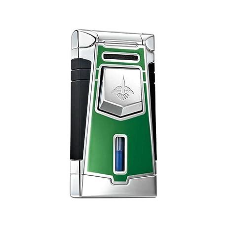 Merveilleux Colibri QTR641005 Empire Wind Resistant Jet Flame Lighter Push Button  Augusta Green