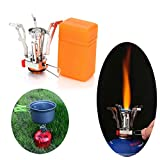 Camping Stove Mini Gas Piezo Ignition Stove Collapsible...