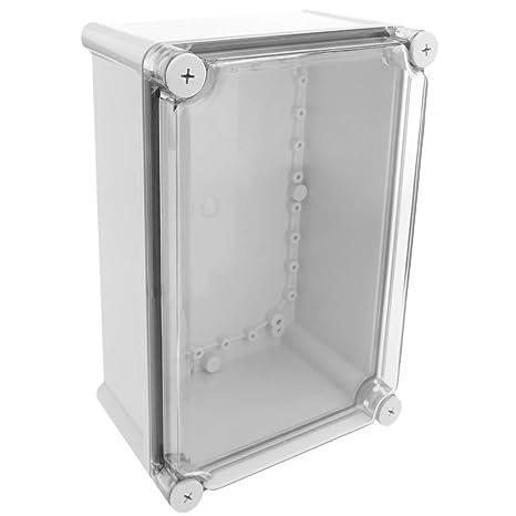 BeMatik - Caja de Conexiones eléctricas de plástico ABS Impermeable IP65 Transparente 275x184x130mm