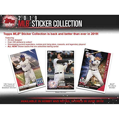 - 2019 Topps Baseball MLB Stickers Box (50 Packs/4 Stickers)