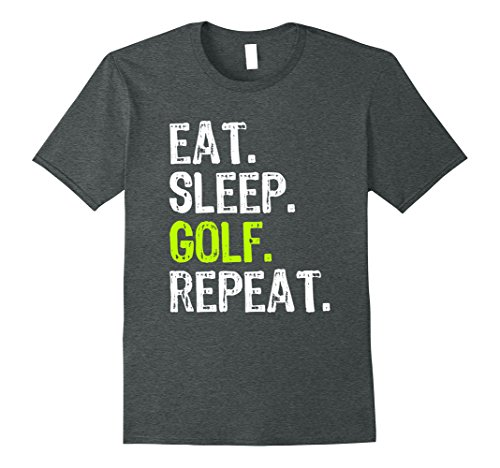 Mens Eat Sleep Golf Repeat T-Shirt XL Dark Heather