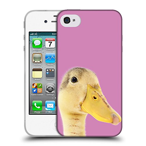 GoGoMobile Coque de Protection TPU Silicone Case pour // Q05760618 Caneton Bronzo // Apple iPhone 4 4S 4G
