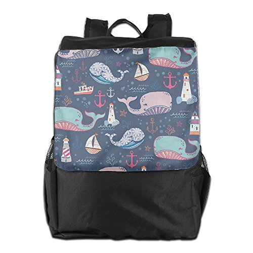 ZGZGZ Lighthouse Whale Sailboat Outdoor&travel&sports Shoulder Bags For Man And Woman (Winged Handbag Heart)