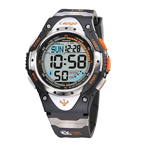 Boys watches, Child Watch, Waterproof Watches, LED Digital Sports Casual Boys Kids Watch 1018d White