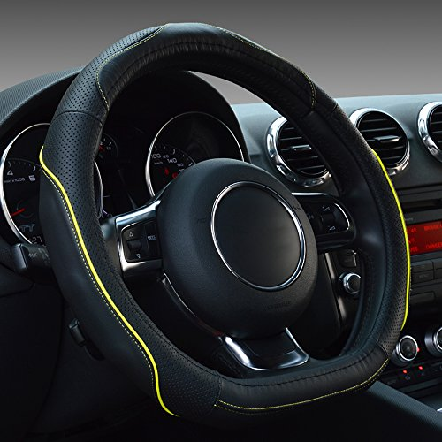 Yellow Stitch Steering Wheel - 5