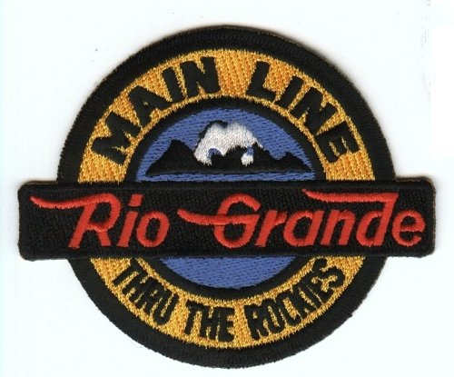 Railroad 100% Embroidered Patch Collectible - Rio Grande Main Line thru Rockies Rio Grande Main Line thru Rockies 4
