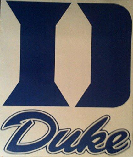 DUKE BLUE DEVILS Large Cornhole Decals - 2 Cornhole Decals by The Cornhole King