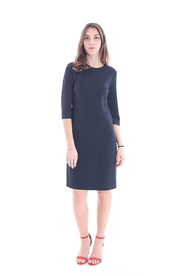 designer fashion d556f bdfae ABITO TUBINO BLU IN COTONE ELASTICIZZATO, Donna.: Amazon.it ...