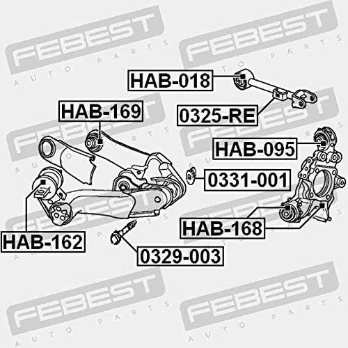 REAR ARM BUSHING KIT HAB-162 Febest