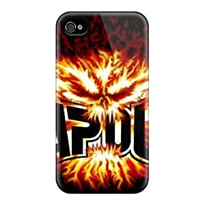 Flexible Tpu Back Case Cover For Iphone 4/4s - Tapout