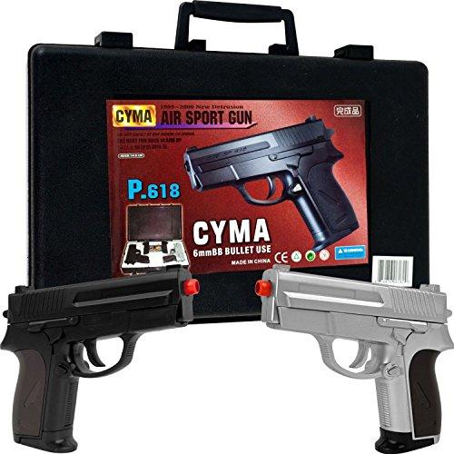 new airsoft pistol set model p618 replica handguns set
