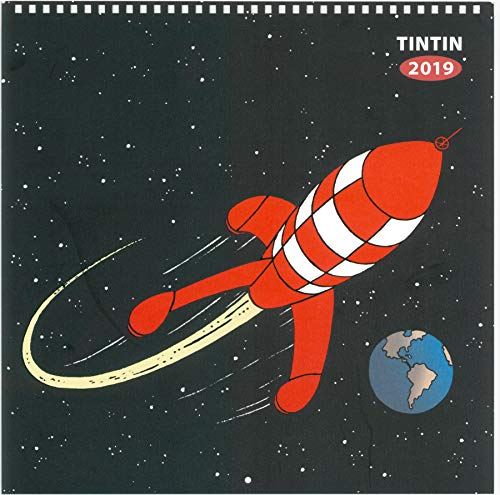 Moulinsart 2019 Wall Calendar Tintin Explorers on the Moon 30x30cm - Tintin Calendar