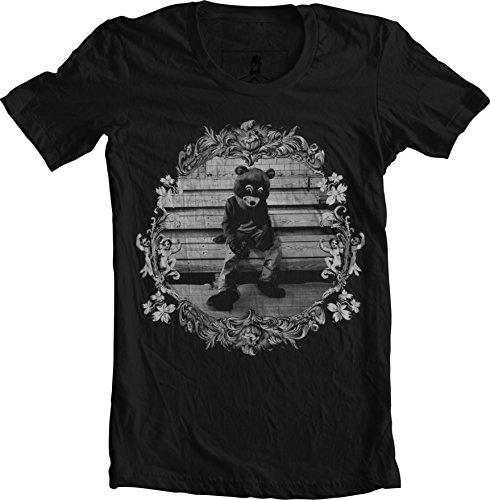 Xqste College Dropout Kanye West Bear Hip Hop Unisex T-Shirt (Medium, Black) (West Bear Shirt Kanye)