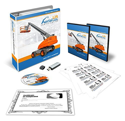 OSHA Compliant Aerial Lift Operator COMPLETE Training Kit + Train the Trainer - Bundle! Certificates Of Completion, Operator Cards, Student Hand Outs, Hands On Evaluation Checklist And More!