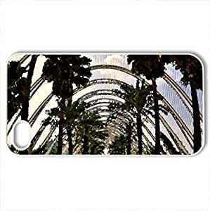 lintao diy beautiful garden in valencia spain - Case Cover for iPhone 4 and 4s (Forests Series, Watercolor style, White)
