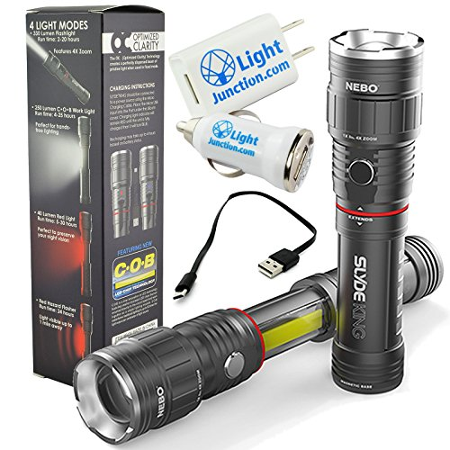 6434 Rechargeable Flashlight Adjustable LightJunction