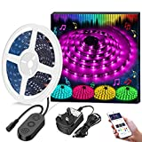 LED Strip Lights LED Tape Lights Sync to Music by APP Control, Minger 16.4Ft/5M LED Light Strip Waterproof Flexible 5050 RGB Rope Light, 12V Strip Lighting for Bedroom Holiday Pa