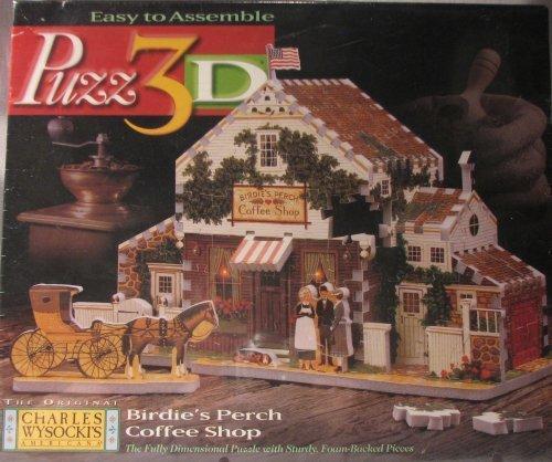ベストセラー Puzz B001BSUT1U 3D Birdie's Perch Coffee Shop 3D Perch B001BSUT1U, マタハリ:3526ea2b --- quiltersinfo.yarnslave.com