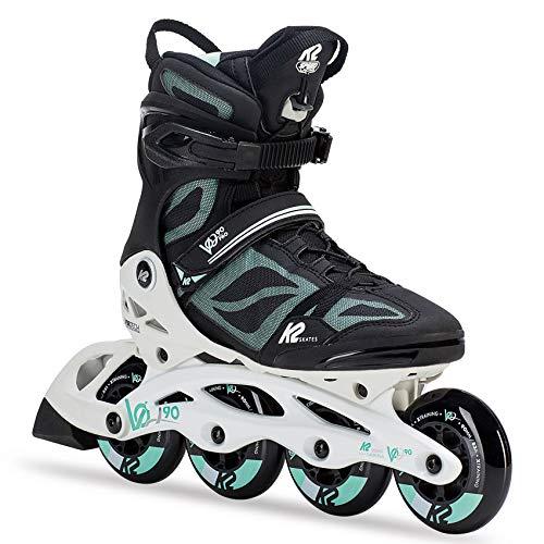K2 Skate Women's VO2 90 Pro Inline Skate, Black White Mint, - Women Skates Roller K2