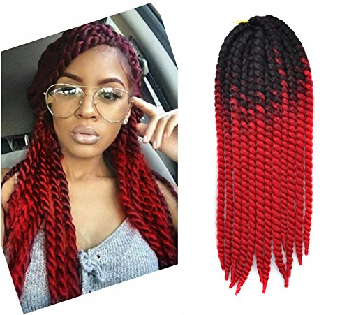 24 Inch Crochet Braid Hair Extensions Havana Mambo Twist 12 Strands Pack 120g Black To Red Buy Online In Aruba At Aruba Desertcart Com Productid 38276942