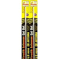 LOT OF 2 Firestik FL3-W 3 Firefly CB Radio Antenna with Tuneable Tip (White)