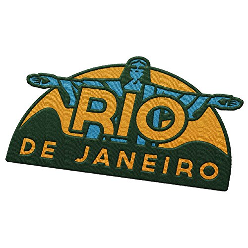 Vagabond Heart Rio De Janiero Brazil Travel Patch - Christ the Redeemer Statue / Great souvenir for backpacks and luggage / Backpacking and travelling badge.