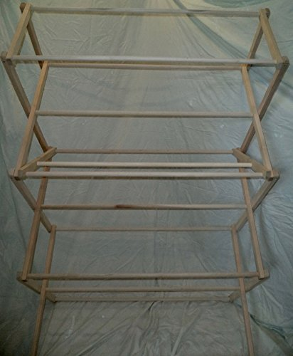 Amish Made Clothes Drying Rack Solid Wood