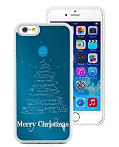 Personalized Hard Shell Case Cover For Apple Iphone 6 Plus 5.5 Inch Art Christmas Tree White Hard Case 3