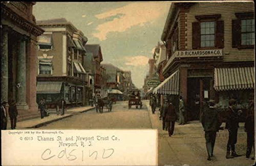 Thames Street and Newport Trust Co Newport, Rhode Island Original Vintage - Street Newport Thames