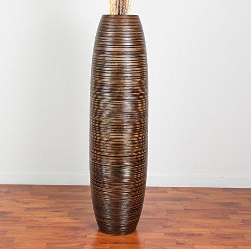 Leewadee Tall Floor Vase 44 inches, Wood, Brown