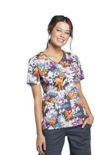 Tooniforms Women's Mock Wrap Top_Bambi Is Adorable_XL,TF611 ()