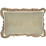 Cheap VHC Brands Classic Country Farmhouse Throws-Prairie Winds Green Blessed 14″ x 22″ Pillow
