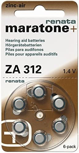 Renata Za 312 Hearing Aid Batteries X60 180 Mah 1 4 V Elektronik