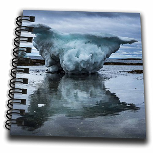 3dRose Danita Delimont - Icebergs - Canada, Repulse Bay, Icebergs grounded at low tide in Harbor Islands. - Mini Notepad 4 x 4 inch (db_257540_3) -