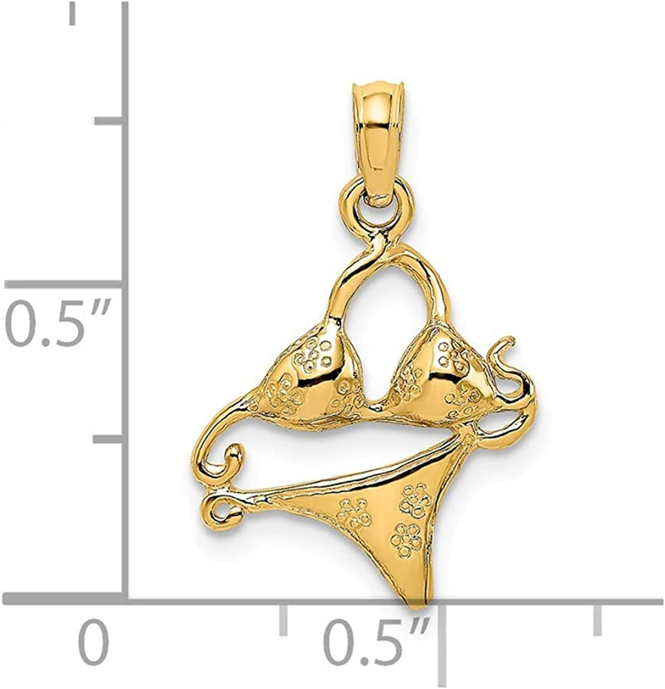Details about  /14K Gold Bikini Bathing Suit Charm Pendant MSRP $165