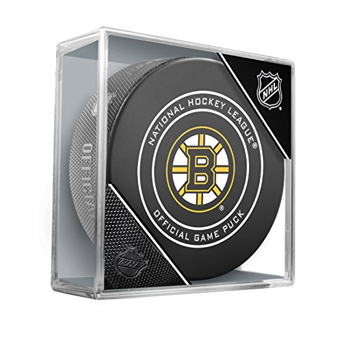 fan products of Boston Bruins Sherwood Official NHL Game Puck in Cube