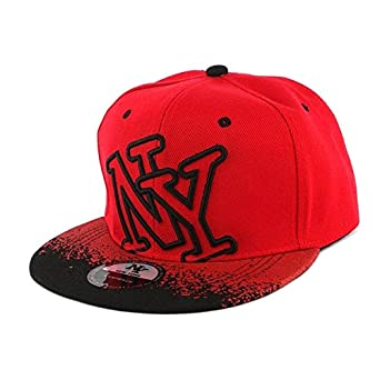 Hip-Hop Honour - NY Cap Men Women Black and Red Tag - Red - One size ... 686c57015c7