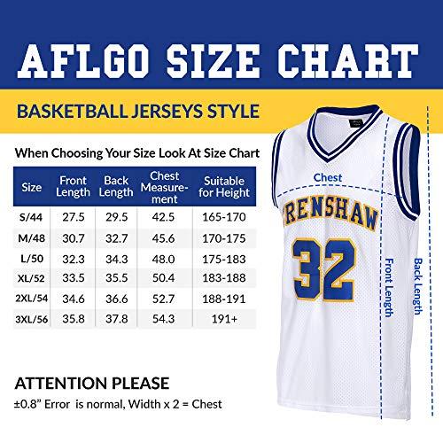 de080f3ed2a7 AFLGO Wright  32 Crenshaw high School Basketball Jersey S-XXXL White ...