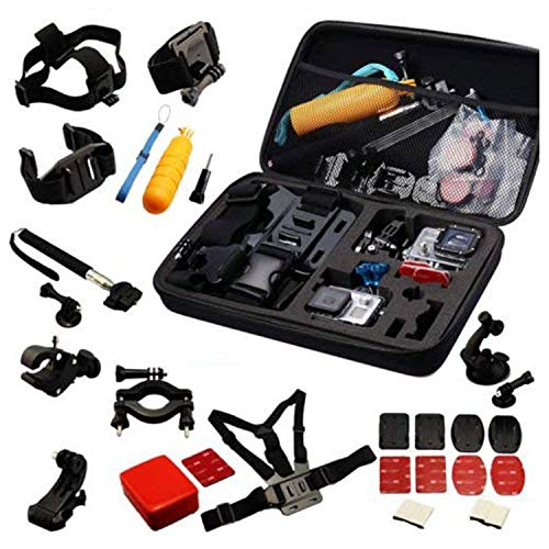 Navitech 30 in 1 Action Camera Accessory Combo Kit EVA Case Compatible The AEE LYFE Shadow Action Camera