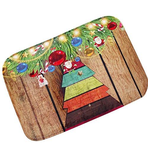 Christmas Doormat Buedvo HD Printed Non-Slip Bath Mat Absorbent Waterproof Home Decor (C) ()