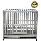 LUCKUP Heavy Duty Dog Cage Strong Metal Kennel and Crate Forsale