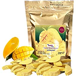 Mango Vacuum Freeze Dried Fresh , 100% Natural and Real Fruit 35 g. or 1.23 Oz (Pack of 2) Thai Tasty Yummy.