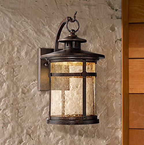 Callaway Rustic Outdoor Wall Light Fixture LED Bronze 11 1/2