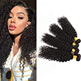 Bleaching Hair Mixed With Conditioner - Huarisi Malaysian Curly Hair Bundles 8A Unprocessed Virgin Hair 4 Bundles Human Hair Extensions Natural Color Mixed Length Full Head Can be Dyed (16'' 18'' 20'' 22'' 95-100g/Pc)