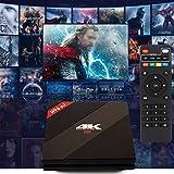 Hanbaili US Plug 4K HD Android 7.1 TV Box, Mini Set Top TV Box 3G DDR3 32G eMMC Amlogic S912 Octa-core BT4.1 Dual Band 2.4G/5.8G+ Wireless Keyboard