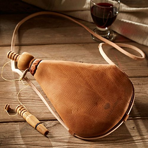 Premium Bota Wineskin with Wooden Spout - Easy-Care Latex Liner (Bag Soapy Saddle)