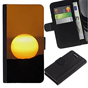 Stuss Case / Funda Carcasa PU de Cuero - Desert Sunset - Sony Xperia Z3 Compact