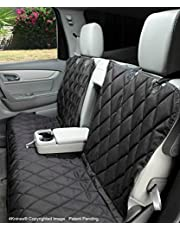 4Knines Fitted Split Rear Seat Non-Slip Cover, Lifetime Warranty (Extra Large, Black)